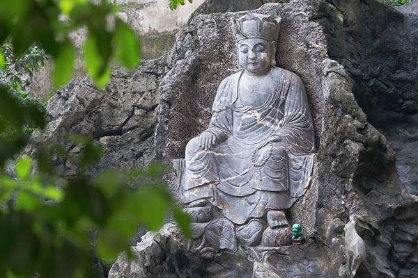Buddhist Temple Wall Art - Photograph - Buddhist Statue In Xizhu Temple by Keren Su