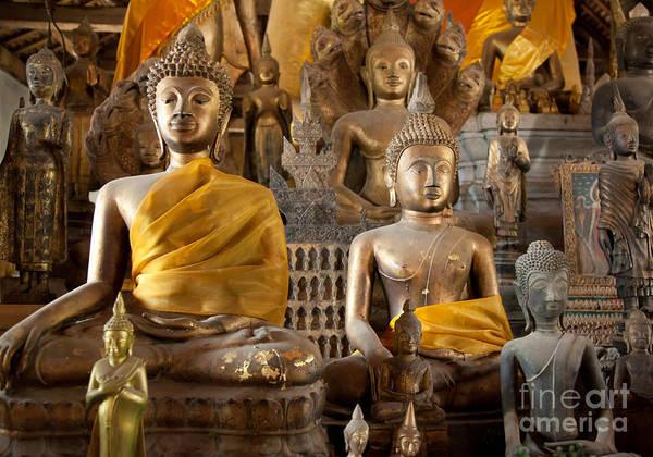 Photograph - Buddhist Statues B by Jo Ann Tomaselli
