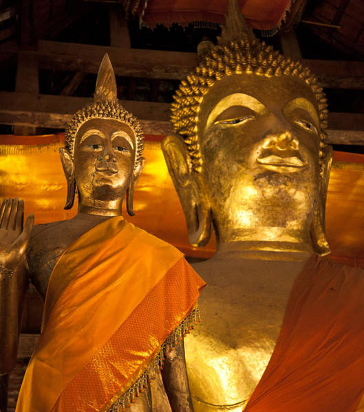 Photograph - Buddhist Statues D - Photography By Jo Ann Tomaselli by Jo Ann Tomaselli