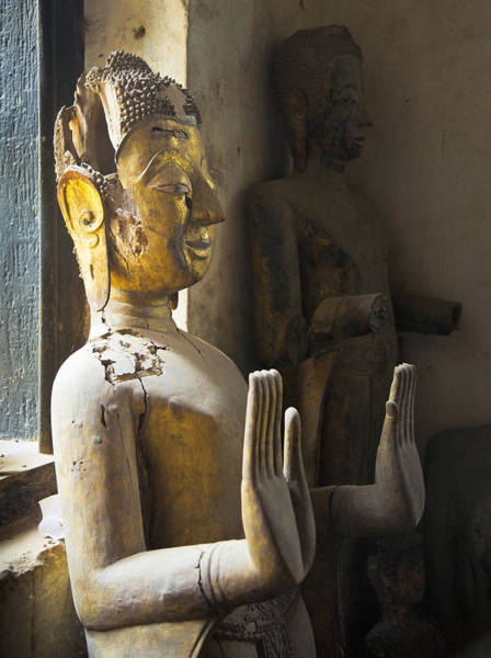 Photograph - Buddhist Statues F - Photography By Jo Ann Tomaselli by Jo Ann Tomaselli