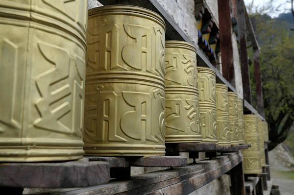 Buddhist Temple, Bomi, Tibet Art Print