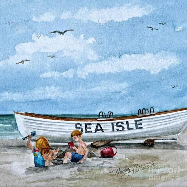 Cape May Painting - Buddies In Sea Isle City 2 by Nancy Patterson