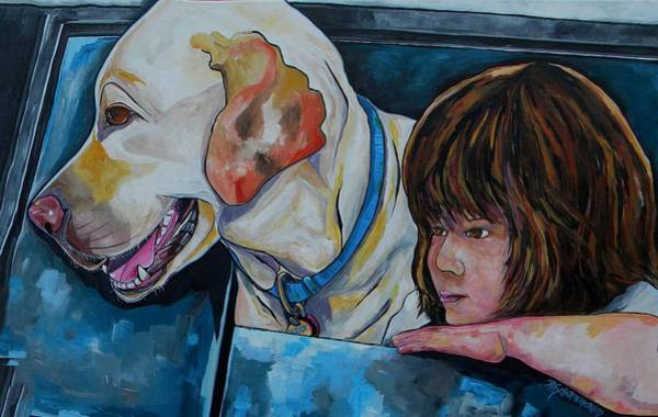 Painting - Buddy And Jessica by Patti Schermerhorn