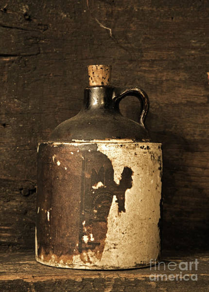 Glazed Wall Art - Photograph - Buddy Bear Moonshine Jug by John Stephens