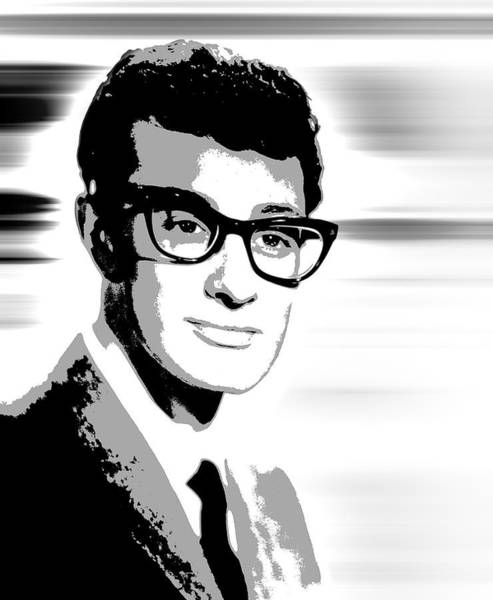 Wall Art - Digital Art - Buddy Holly Pop Art by Daniel Hagerman