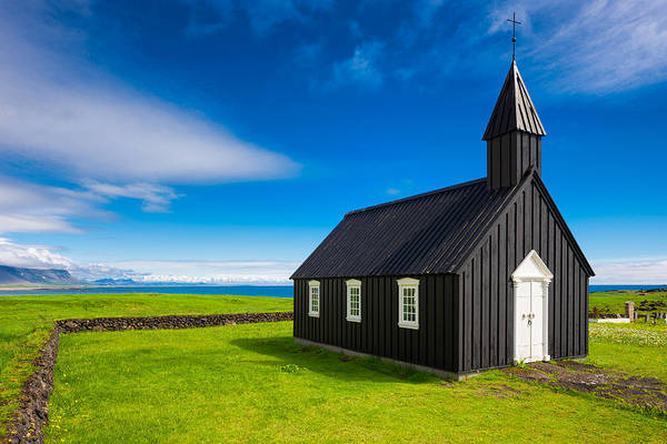 Photograph - Budir Black Church West Iceland Europe by Matthias Hauser