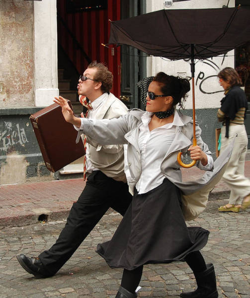 Photograph - Buenos Aires Street Theatre by Michael Hope