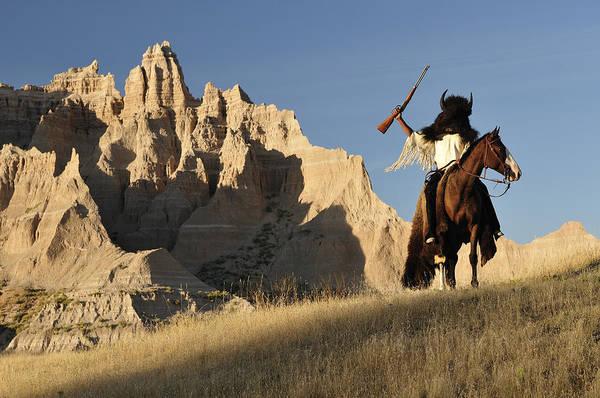 North Dakota Badlands Wall Art - Photograph - Buffallo Hunter by Christian Heeb