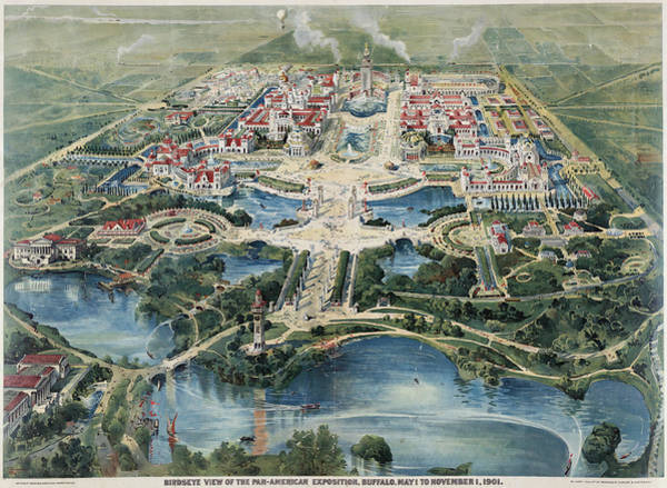 Aerial View Digital Art - Buffalo 1901 by Georgia Fowler