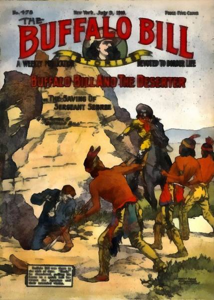 Digital Art - Buffalo Bill And The Deserter by Dime Novel Collection