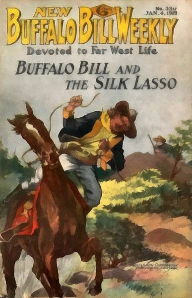 Digital Art - Buffalo Bill And The Silk Lasso by Dime Novel Collection