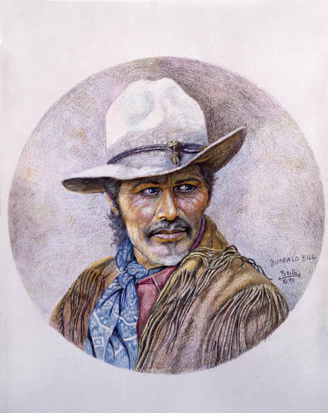 Colored Pencil Drawings Painting - Buffalo Bill by Gregory Perillo
