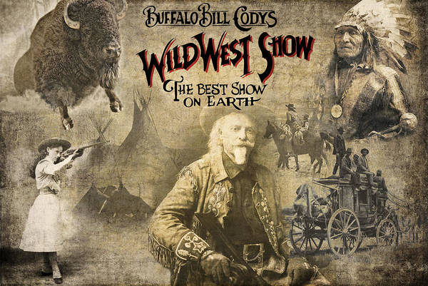 Wagon Digital Art - Buffalo Bill Wild West Show by Daniel Hagerman