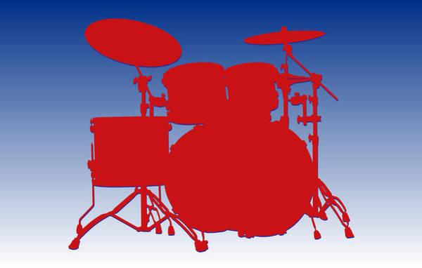 Drum Player Wall Art - Photograph - Buffalo Bills Drum Set by Joe Hamilton
