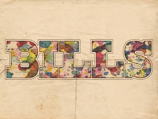 Painting - Buffalo Bills Logo Art by Florian Rodarte