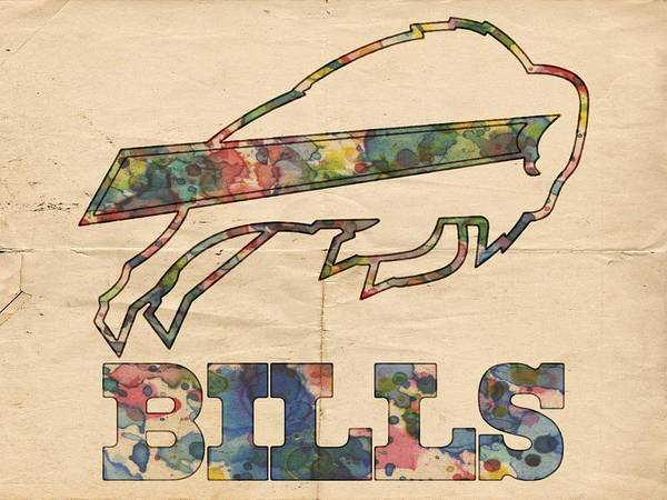 Painting - Buffalo Bills Logo Vintage by Florian Rodarte
