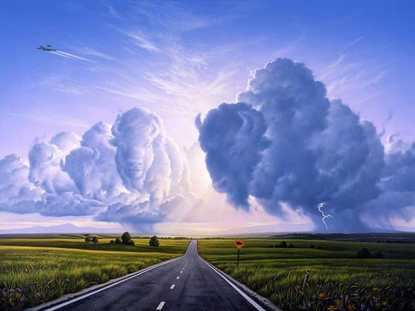 Wall Art - Painting - Nato Buffalo Crossing by Jerry LoFaro