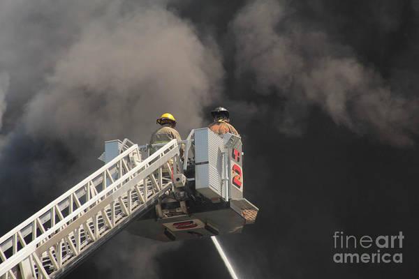 Photograph - Buffalo Fire Department Ladder Truck by Jim Lepard
