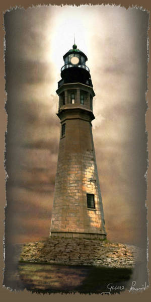 Gina Wall Art - Painting - Buffalo Main Lighthouse by Regina Femrite