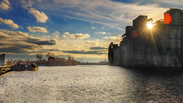 Photograph - Buffalo River Tugs Under A Setting Sun by Chris Bordeleau