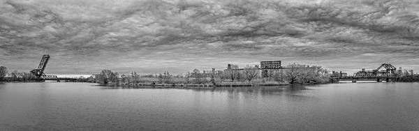 Wny Wall Art - Photograph - Buffalo River Wheelbarrow Point - Bw by Chris Bordeleau