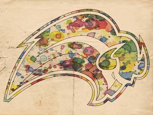 Painting - Buffalo Sabres Logo Art by Florian Rodarte