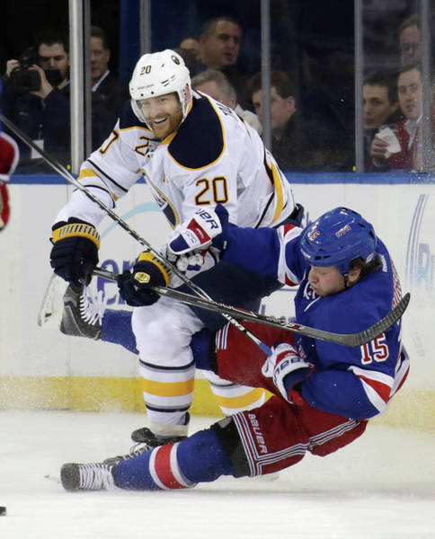 Madison Square Garden Photograph - Buffalo Sabres V New York Rangers by Bruce Bennett
