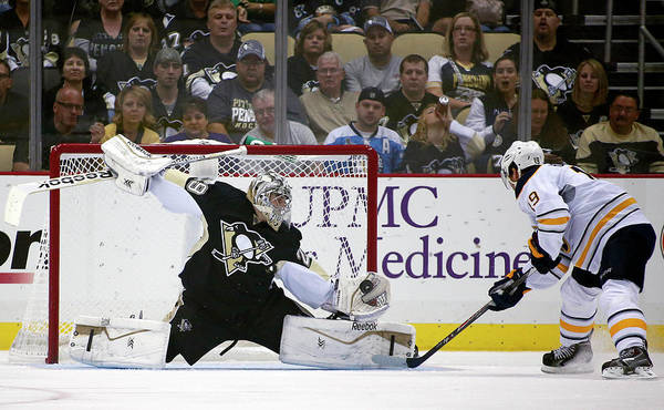 Topics Photograph - Buffalo Sabres V Pittsburgh Penguins by Justin K. Aller
