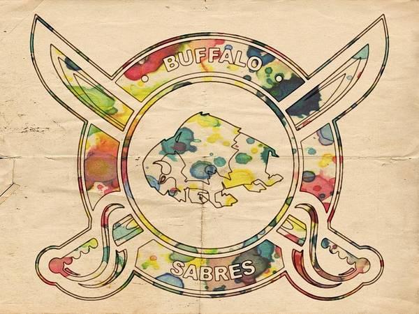 Painting - Buffalo Sabres Vintage Art by Florian Rodarte