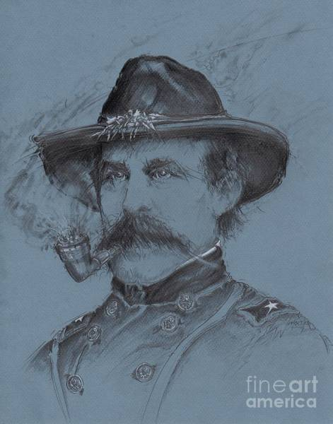 Confederate Soldier Drawing - Buford's Stand by Scott and Dixie Wiley