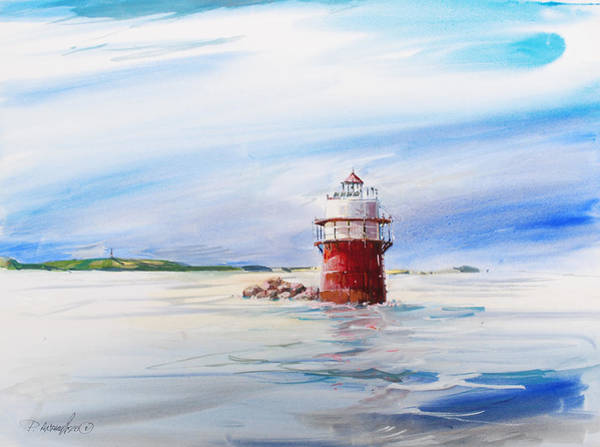 Painting - Bug Light The Channel Marker by P Anthony Visco
