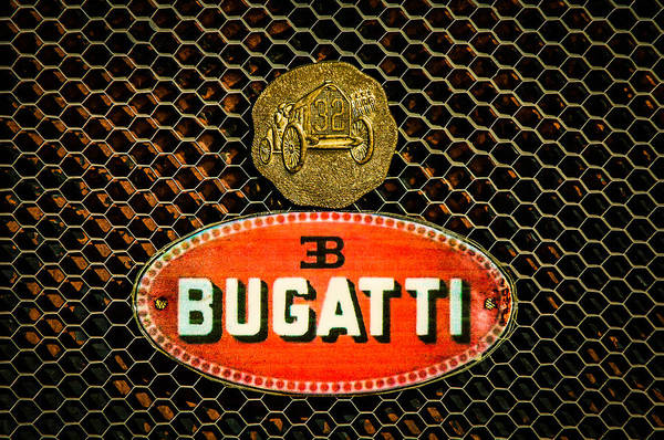 Photograph - Bugatti Emblem -0903c by Jill Reger