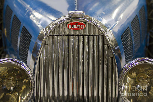 Photograph - Bugatti In Blue by Heiko Koehrer-Wagner