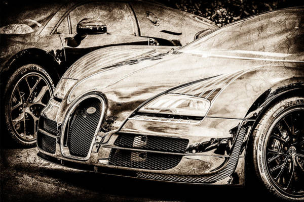 Photograph - Bugatti Legend - Veyron Special Edition -0845s by Jill Reger