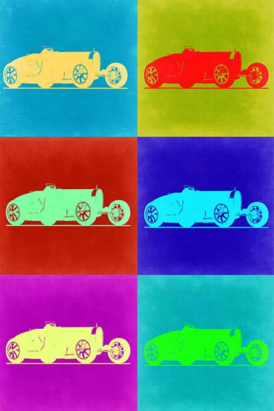 Type Wall Art - Painting - Bugatti Type 35 R Pop Art 2 by Naxart Studio