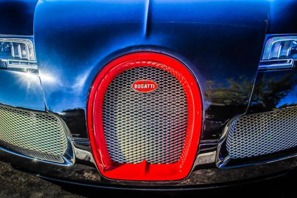 Photograph - Bugatti Veyron Legend Grille Emblem -0488c by Jill Reger