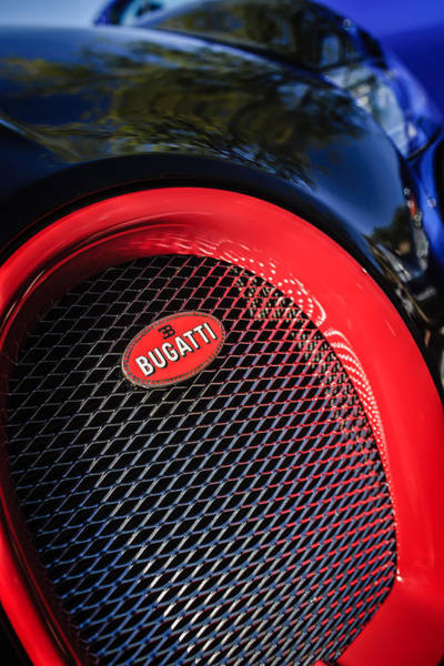 Photograph - Bugatti Veyron Legend Grille Emblem -0514c by Jill Reger