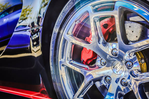 Photograph - Bugatti Veyron Legend Wheel -0532c by Jill Reger