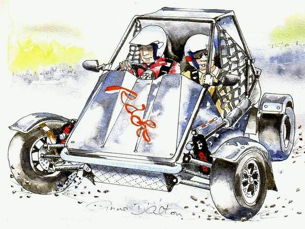 Drawing - Buggy by Anne Dalton