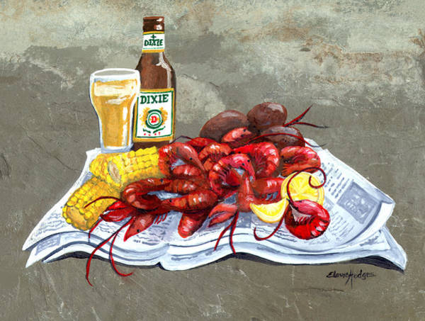 Slate Painting - Bugs And Beer by Elaine Hodges