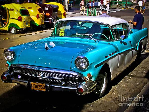 Photograph - Buick 1957 At La Habana - Cuba by Carlos Alkmin