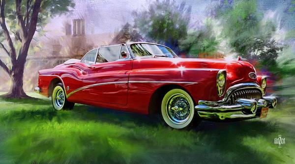 Wall Art - Digital Art - 1953 Buick Eight Convertible by Garth Glazier
