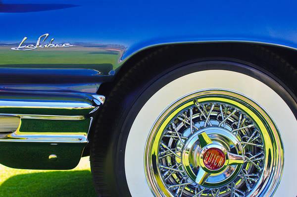 Photograph - Buick Lesabre Wheel Emblem by Jill Reger