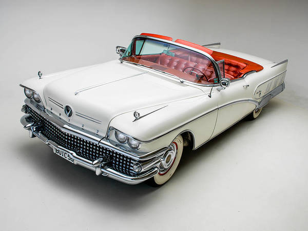 Classic Hot Rod Wall Art - Photograph - Buick Limited Convertible 1958 by Gianfranco Weiss