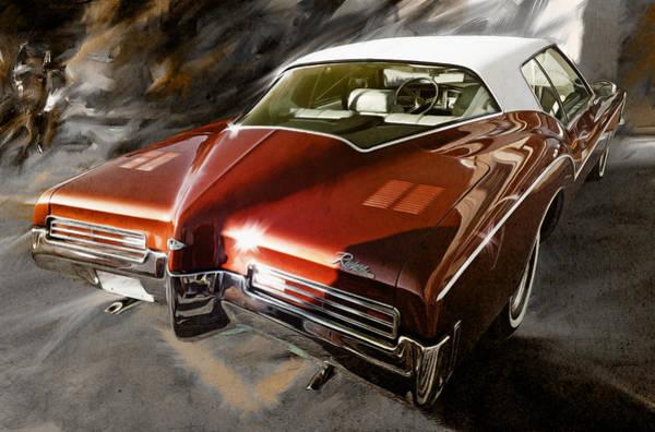 Wall Art - Digital Art - 1971 Buick Riviera In Maroon by Garth Glazier