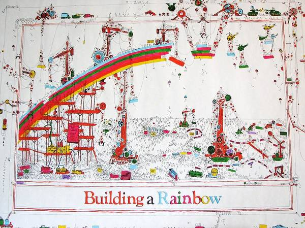 Mac Mixed Media - Building A Rainbow by Chris Mac