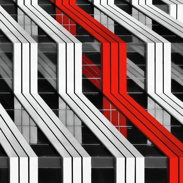 Selective Color Photograph - Building Abstract by Gary E. Karcz