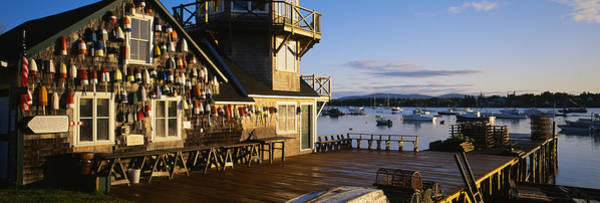 Mount Desert Island Photograph - Building At The Waterfront, Fishing by Panoramic Images