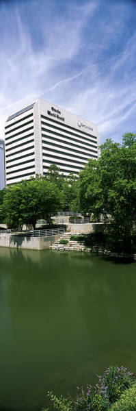 Riverwalk Photograph - Building At The Waterfront, Qwest by Panoramic Images