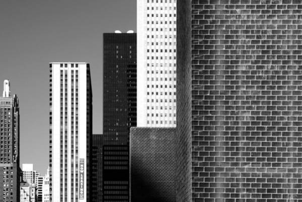 Building Blocks Black White Art Print